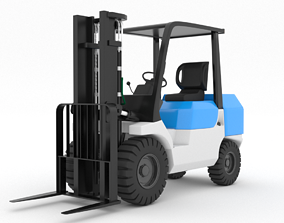 3D model VR / AR ready Forklift