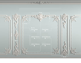 Decorative frame 3D asset