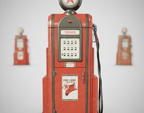 3D model Gas Pump - Texaco 60s
