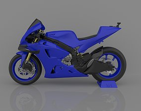 3D printable model Motorcycle Yamaha YZF-M1 Racing 2020 4