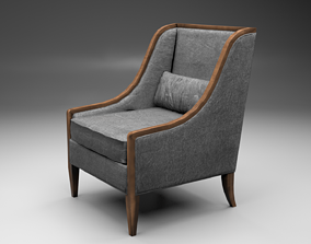 3D model Solid wood armchair Tosato verona