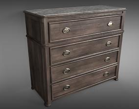 wood 3D model PBR Sideboard