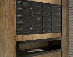 Wall Mailboxes interior design idea 3D model