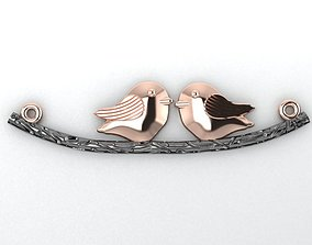 birds on a branch necklace engagem 3D printable model