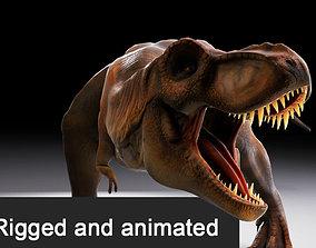 Jurassic Park Tyrannosaurus Rex 3D Model animated