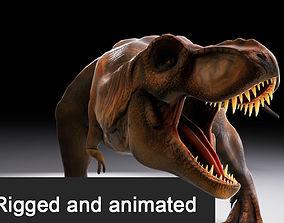 Jurassic Park Tyrannosaurus Rex 3D animated
