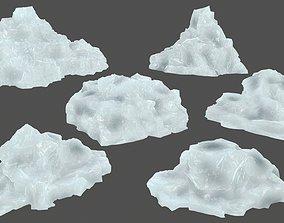 ice set 3D asset low-poly