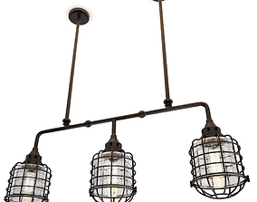 Industrial Trio Pendant Light Connell 3D model