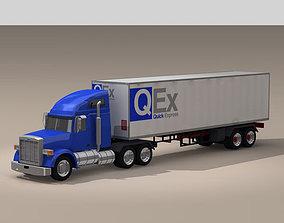 freighter 3D model Us freight truck