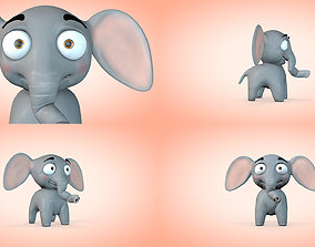 Cartoon Elephant 3D
