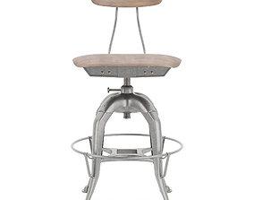 3D model wood Mini vintage toledo chair