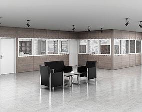 3D architecture office partition