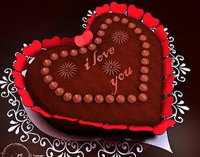 3D Valentine chocolate cake