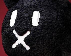 Black Horror Rabbit Mask 3D model