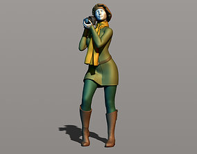 Girl with a camera 3D printable model