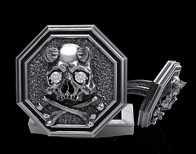 3D printable model skull cufflinks