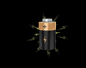 3D model game-ready Battery