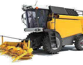 hay Combine Harvester 3D model
