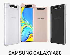 3D model Samsung Galaxy A80 Full Colors