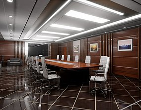 HQ ArchViz Conference Room 3D asset low-poly