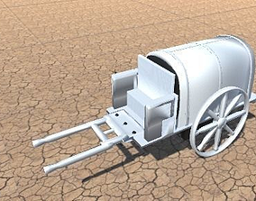 3D printable model wagon western