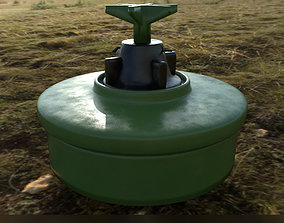 PMA-3 Yugoslavian land mine 3D model