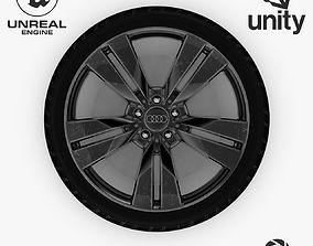 Wheel Steel-Chrome Dark Alloy Rim Audi 19 3D asset 2