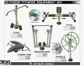 Outdoor Fitness Equipment 01 3D