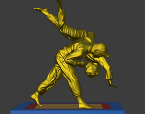 3D print model Judoka diorama