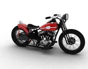 3D model Harley-Davidson WLA Bobber 1945