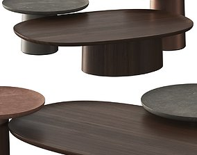 3D Molteni C Louisa Coffee and Side Tables