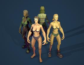 Stylized Human Female 3D asset