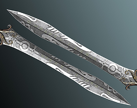 Fantasy Sword 3D model low-poly