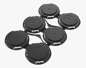 Clip PAK Carrier Handle Standard Can 6Pak 3D model
