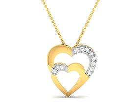 Women heart pendant 3dm render detail pendant-necklace