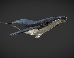 3D model Whale Low Polygon Art Animal