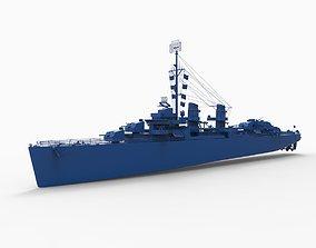 USS Fletcher DD-445 3D printable model