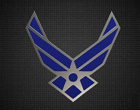 us air force logo 3D model