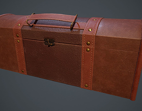 Lowpoly PBR Leather Chest 3D model