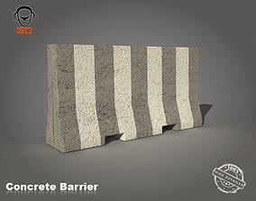 3D model asset Concrete Barrier