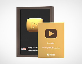 YouTube Gold Play Button 3D model