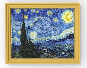 Starry Night painting by Vincent Van Gogh for 3D printing