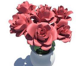 3D model Roses in Vase