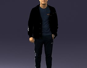 Man in a black tracksuit 0274 3D Print Ready