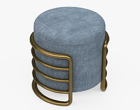 EERO Stool navy upholstered 3D model