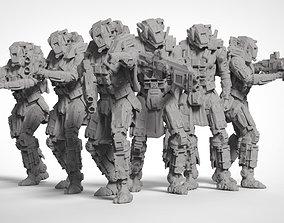 3D printable model Sci Fi Battle Armor Miniatures - 3