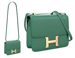 3D model Hermes Constance Bag Green Leather