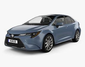 Toyota Corolla XLE US-spec sedan 2019 3D
