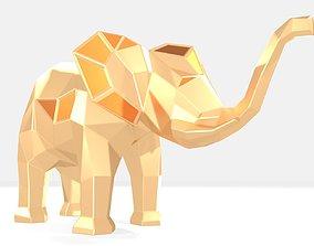 Polygonal Elephant kid Parametric 3D printable model