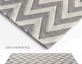 Grey Chevron Rug 3D model